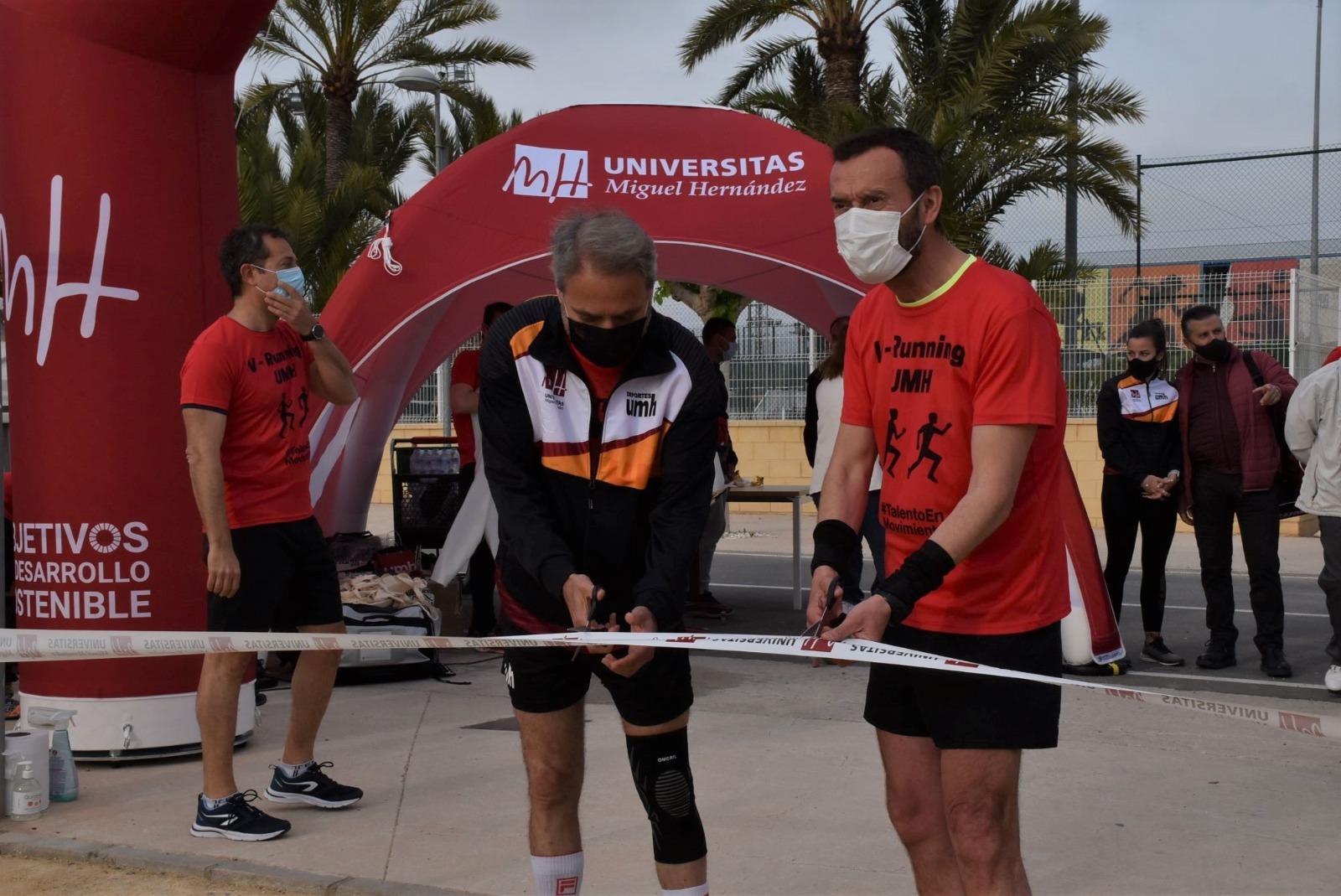 UMH inauguran el Circuito V-Running en el campus de Elche