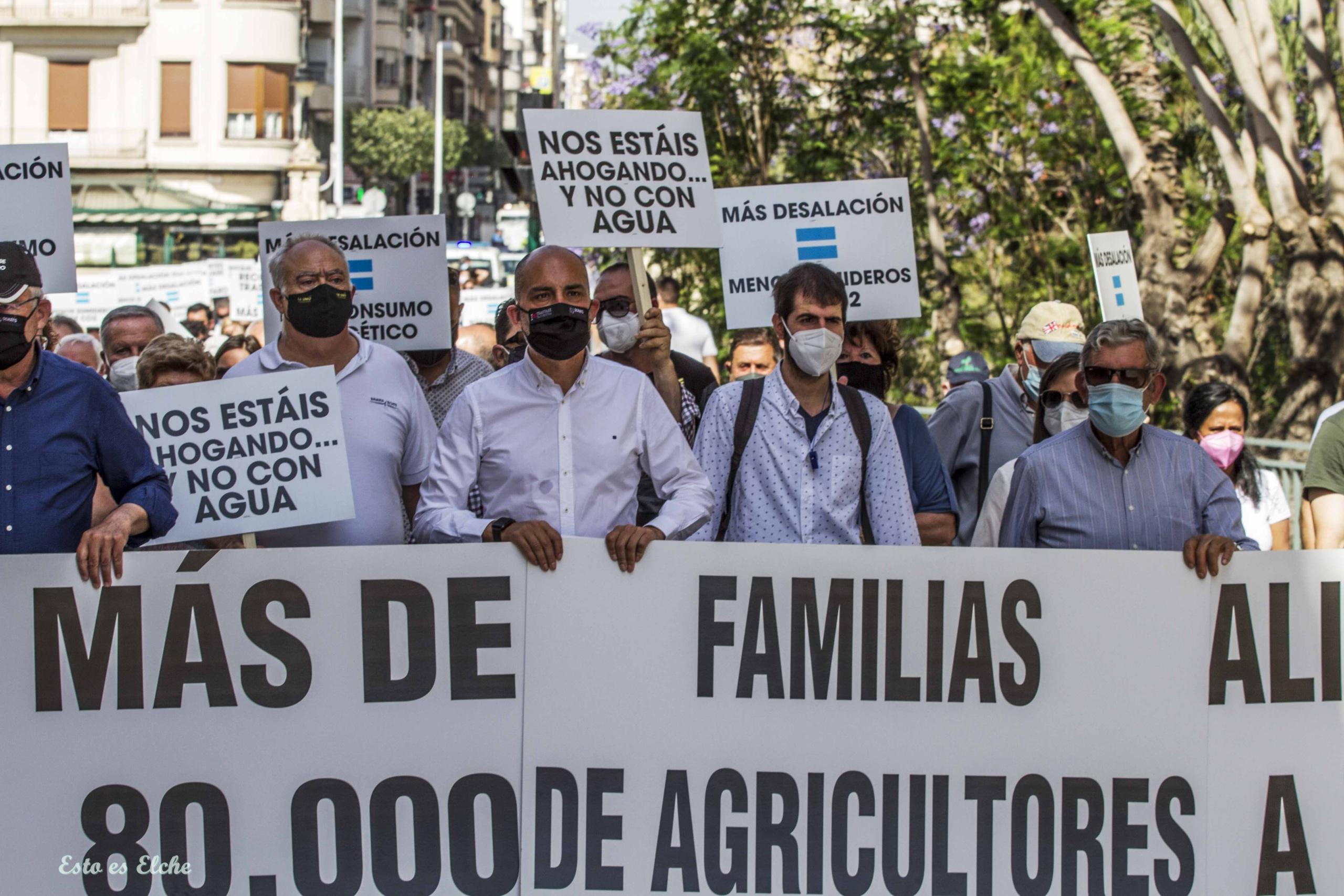 Alcalde Agricultores Protesta Trasvase Tajo Segura Esto es Elche