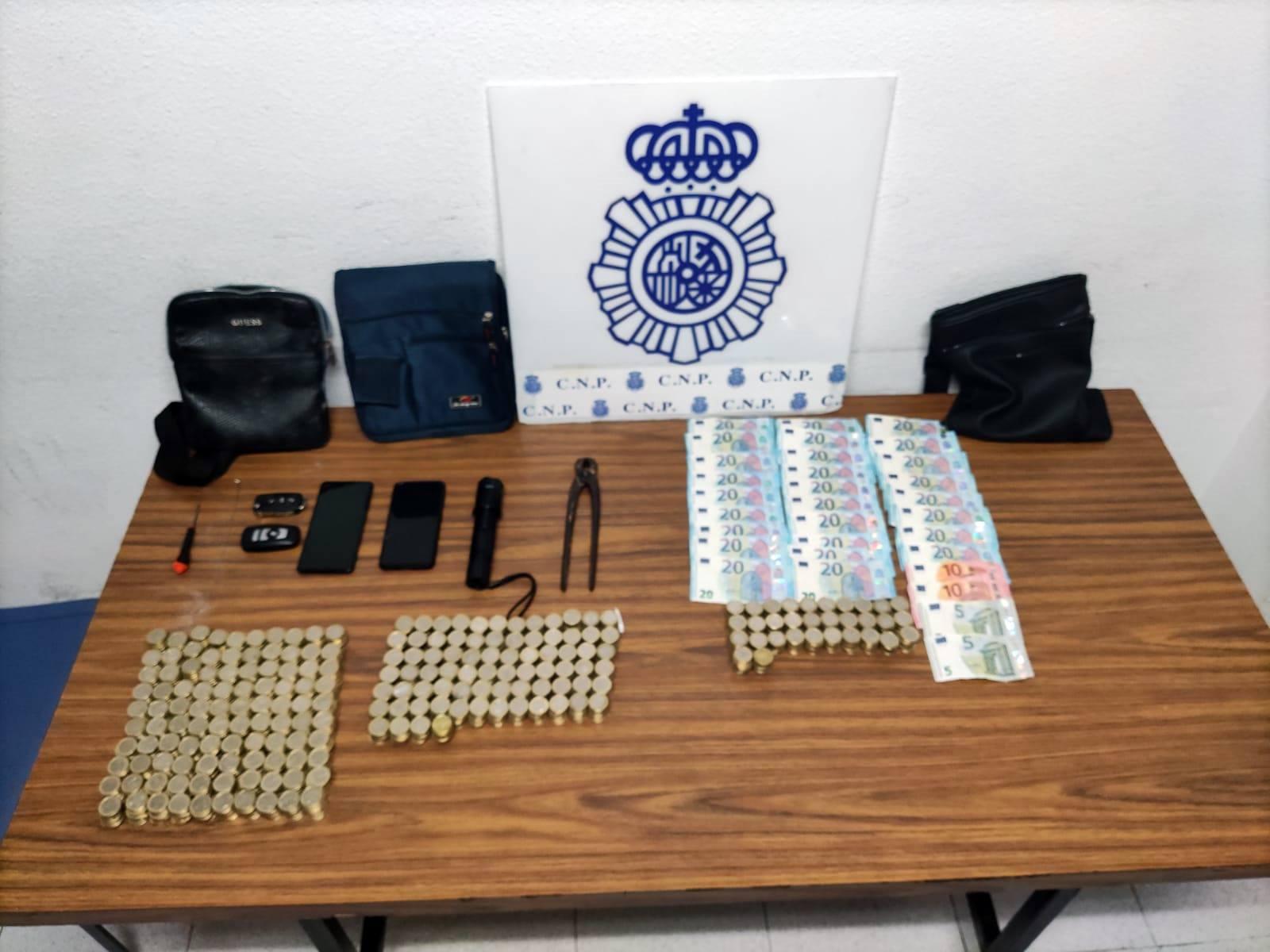 Policía Nacional robo con fuerza en máquinas de juego