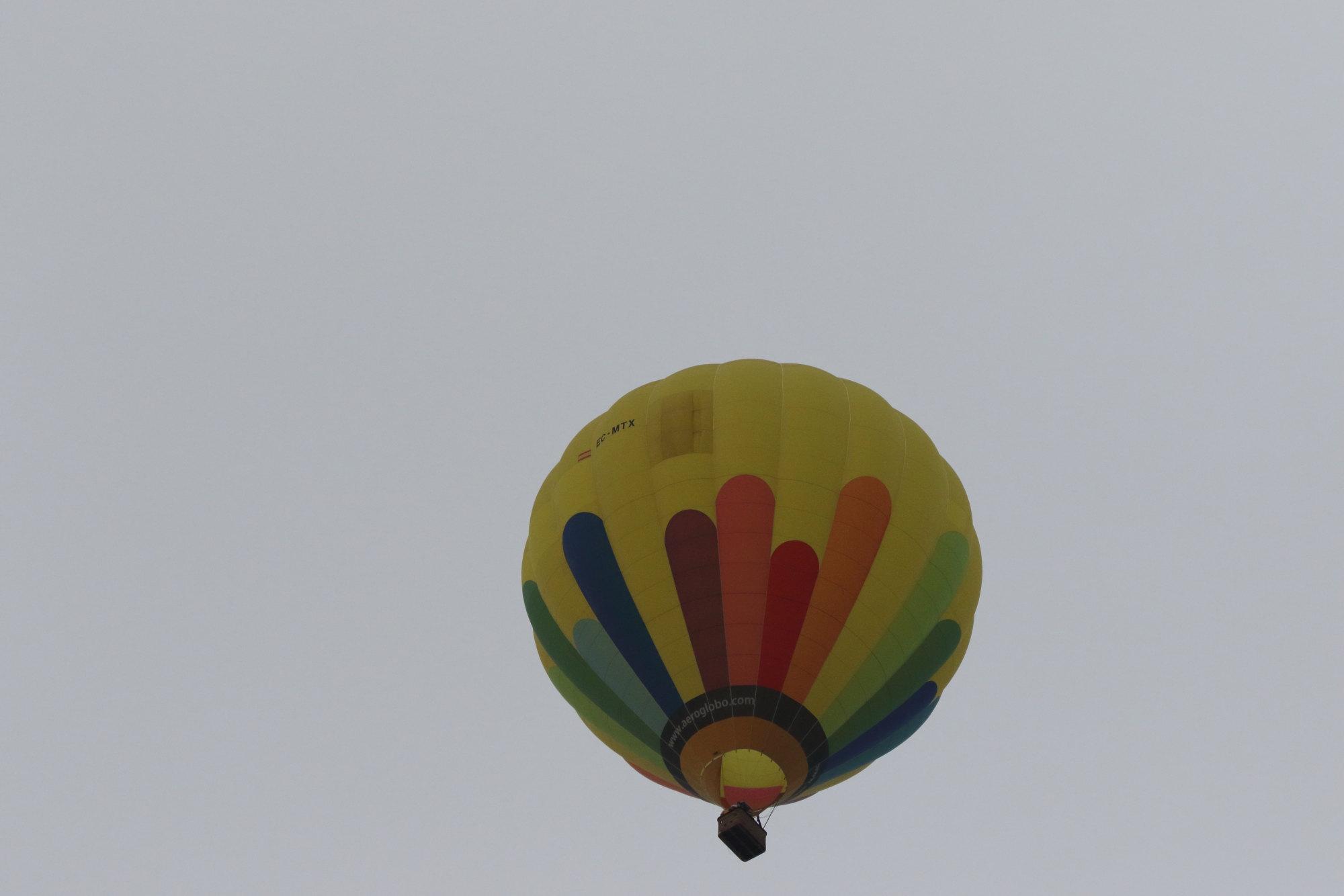Globo aerostático sobrevolando El Hondo (S. Arroyo)